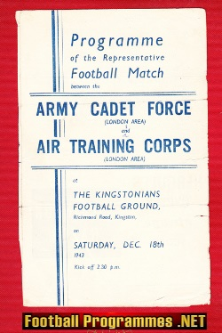 Army Air Cadets v Air Traning Corps 1943 - British Services