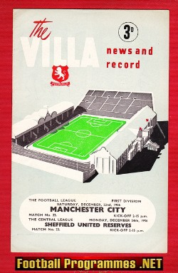 Aston Villa v Man City 1956 + Sheffield United
