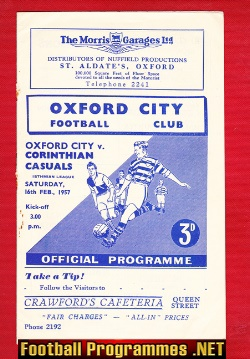 Oxford City v Corinthians Casuals 1957