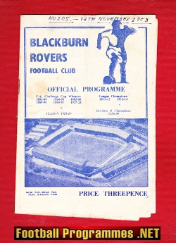 Blackburn Rovers v Nottingham Forest 1953