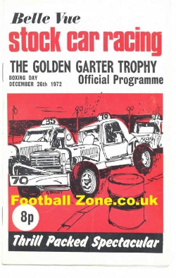 Belle Vue Stock Car Racing 1972 - Golden Garter Trophy