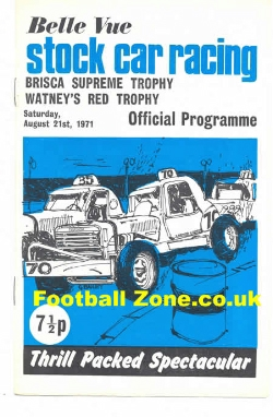 Belle Vue Stock Car Racing 1971 - Brisca Trophy