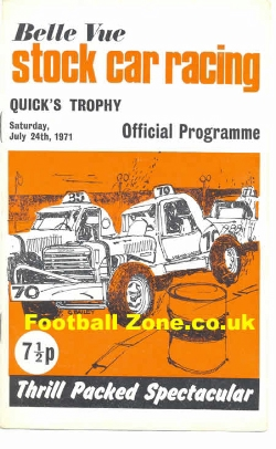 Belle Vue Stock Car Racing 1971 - Quicks Trophy
