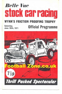 Belle Vue Stock Car Racing 1971 - Wynn Friction Trophy