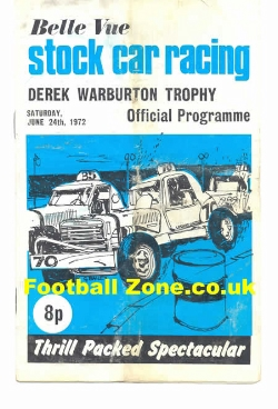 Belle Vue Stock Car Racing 1972 - Derek Warburton Trophy