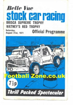 Belle Vue Stock Car Racing 1971 - Brisca Trophy Meeting
