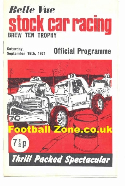 Belle Vue Stock Car Racing 1971 - Brew Ten Trophy Meeting