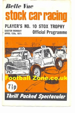 Belle Vue Stock Car Racing 1971 - Players 10 Trophy