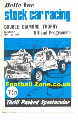 Belle Vue Stock Car Racing 1971 - Double Diamond Trophy