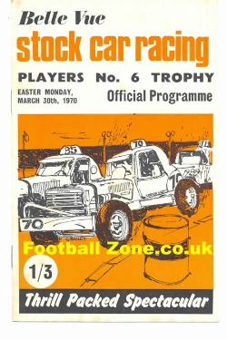 Belle Vue Stock Car Racing 1970 - Players 6 Trophy