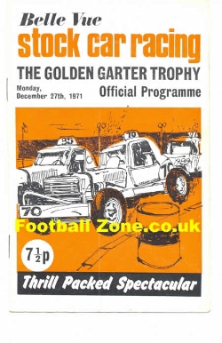 Belle Vue Stock Car Racing 1971 - Golden Garter Trophy
