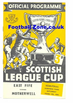 East Fife v Motherwell 1954 - Cup Semi Final