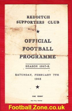 Redditch v Bedworth 1948 - 1940s Football Programme