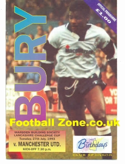 Bury v Man Utd 1993 - Reserves Match