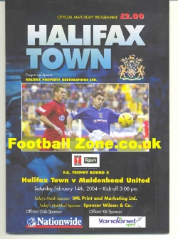 Halifax Town v Maidenhead United 2004 - Multi Autographed Signed