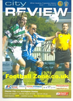 Chester City v Accrington Stanley 2006 - Multi Autographed First