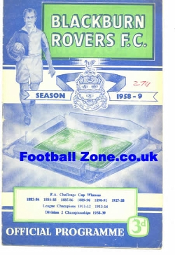 Blackburn Rovers v Burnley 1959
