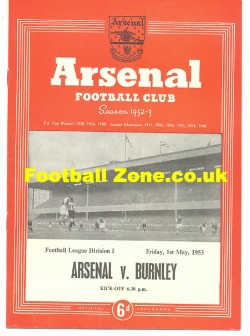 Arsenal v Burnley 1953