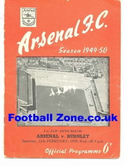 Arsenal v Burnley 1950 - to clear