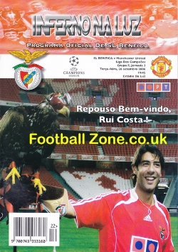 Benfica v Man Utd 2006 - Official Football Programme