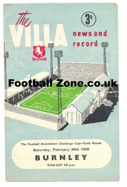 Aston Villa v Burnley 1959