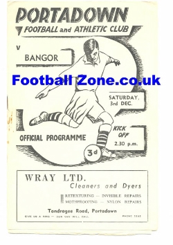 Portadown v Bangor 1955 - Gold Cup Final Ireland