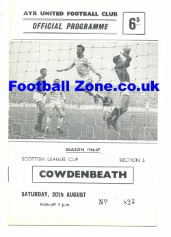 Ayr United v Cowdenbeath 1966