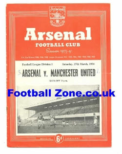 Arsenal v Man Utd 1954