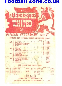 Manchester United v Man City 1944
