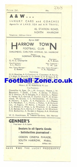 Harrow Town v Burnham 1948