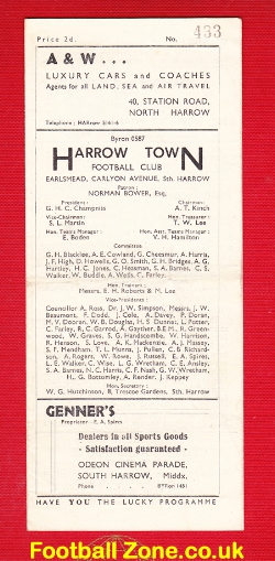 Harrow Town v London Metropolitan Police 1948 - Met Police