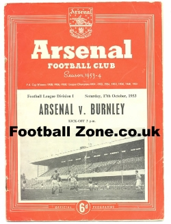 Arsenal v Burnley 1953 - to clear