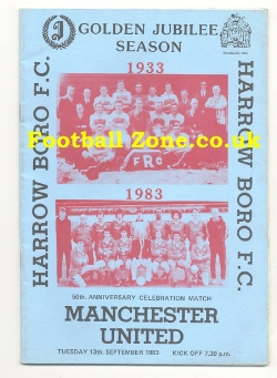 Harrow Borough v Man Utd 1983 - Anniversary Celebration Match