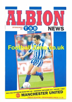 Brighton Hove Albion v Man Utd 1992 - Beckham First Game