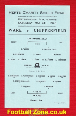 Ware v Chipperfield 1946 - Herts Charity Shield Final