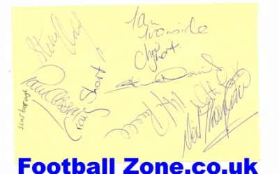 Scarborough + Bury Football Autographed Signed 1960's