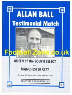 Allan Ball Testimonial Benefit Match Queen Of The South 1984