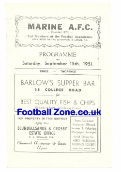Marine Athletic v Liverpool Police 1951