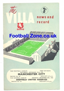 Aston Villa v Man City 1956 + Sheff United