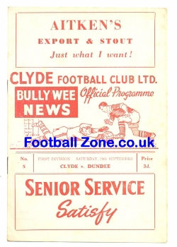 Clyde v Dundee 1959
