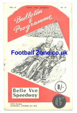 Belle Vue Speedway 1952 The 100 Guineas Trophy Final