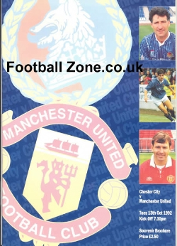 Chester City v Man Utd 1992 - Souvenir Brochure