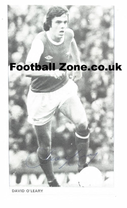 Arsenal David O'Leary Autographed Picture
