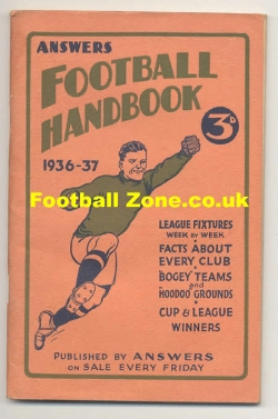 Answers Football Handbook 1936 - 1937