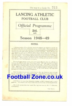Lancing Athletic v Lewes 1949 - Sussex League