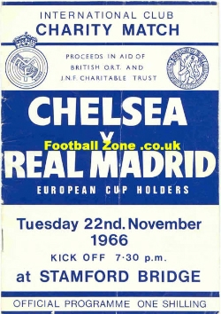Chelsea v Real Madrid 1966 - Charity Match