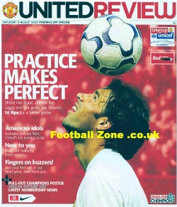 1 Manchester United Training Day Special Football Programme 2003