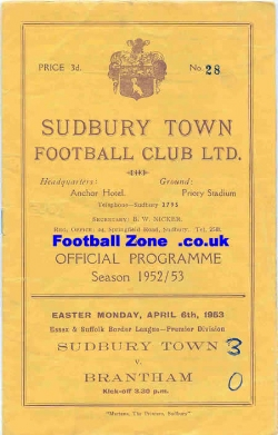 Sudbury Town v Brantham Athletic 1953
