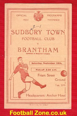 Sudbury Town v Brantham Athletic 1948