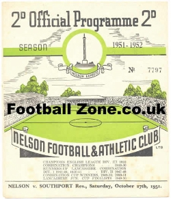 Nelson v Southport 1951 - Reserves Match